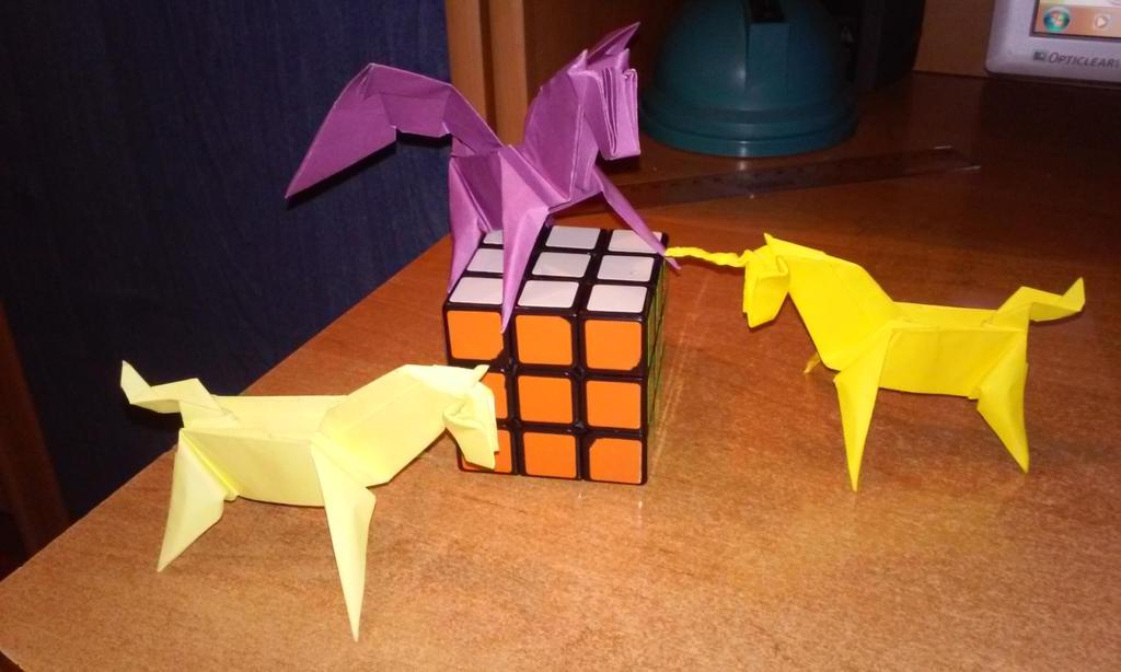 Origami - Magic Horses by Sszymon14