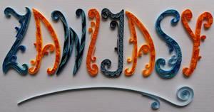 Quilling Typography - Zawijasy by RzymonZPapieru