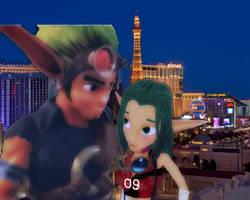 Jak and Keira Las Vegas Evening Hangout