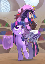 The great immovable library, roots down firm by Riza23