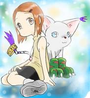 Hikari N tailmon by Riza23