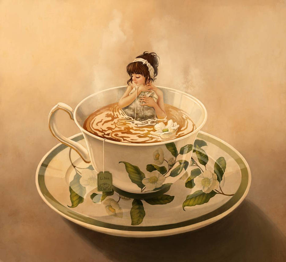 Tea Cup Girl