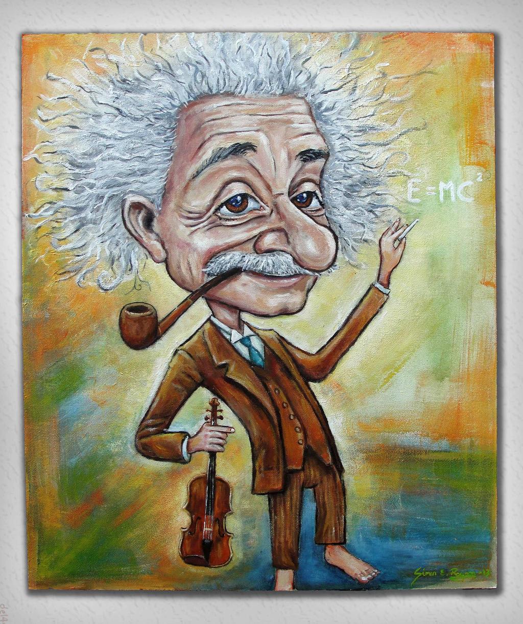 Albert Einstein caricature by Caricatureart on DeviantArt
