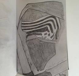 Kylo Ren Sketchbook day 52