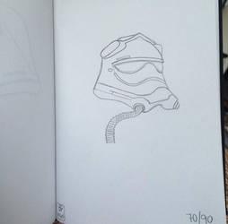 First Order Tie Pilot Sketchbook Day 70