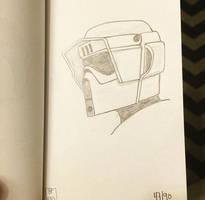Star Wars Biker Scout Sketchbook Day 47