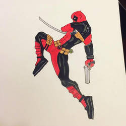 My Deadpool drawn from the Spiderman/Deadpool