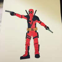 Deadpool Movie Drawing