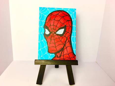 2.5 x 3.5 Spiderman Sketch Card