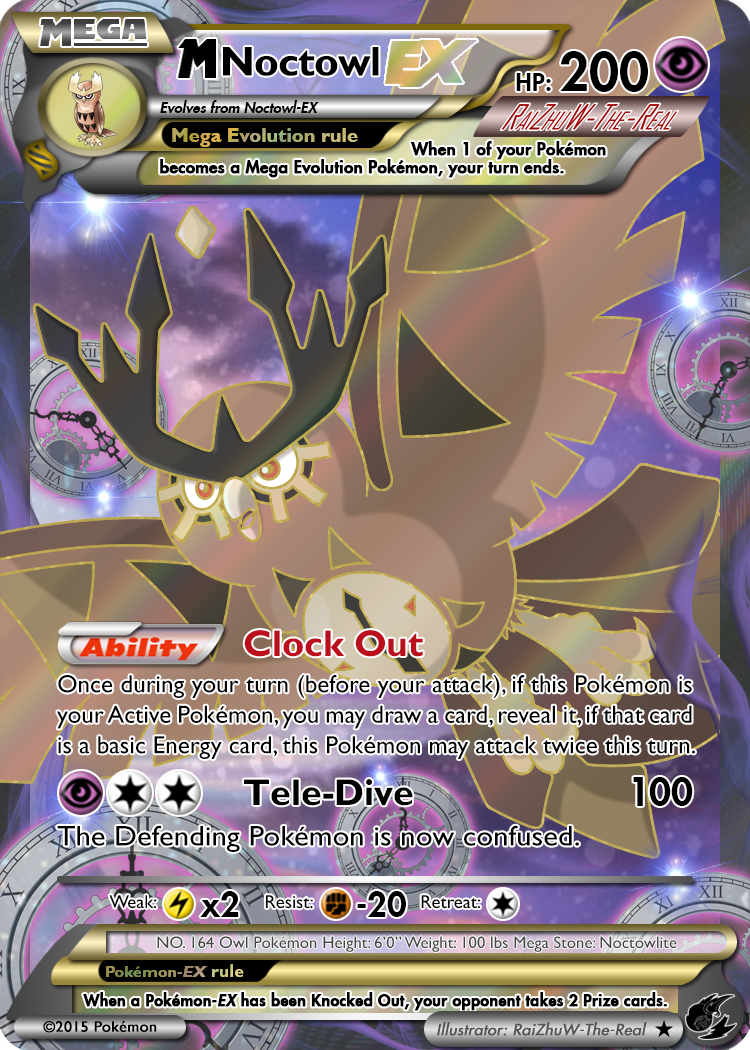 164 Mega Noctowl EX by RaiZhuW-The-Real on DeviantArt
