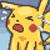 Pikachu crying by RoxasPikachu
