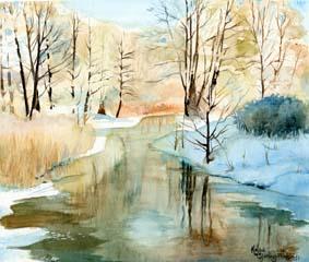 Winter water by Flingling