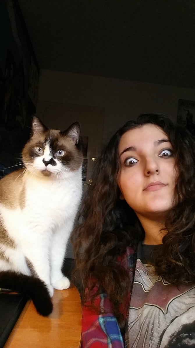 Me and mah bud, selfie game by Ioana-Muresan