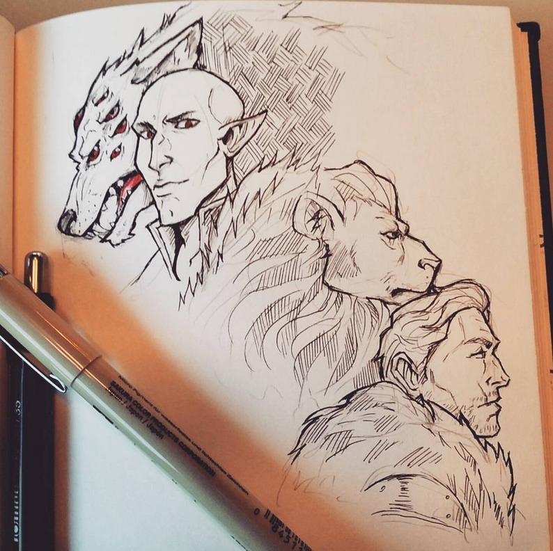 The wolf and the lion by Ioana-Muresan on DeviantArt