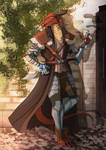 Commission Torinn Dragon born fighter