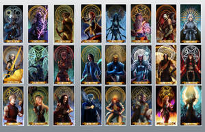 Tarot card commissions compilation by Ioana-Muresan