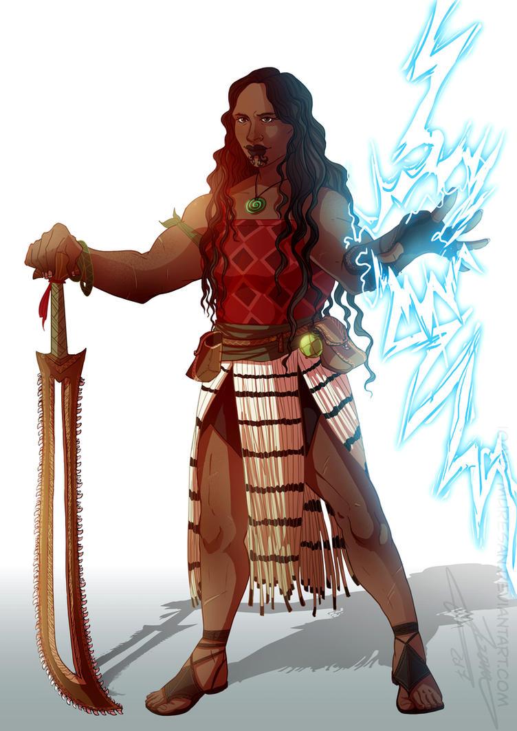 Commmission, Maori Barbarian by Ioana-Muresan
