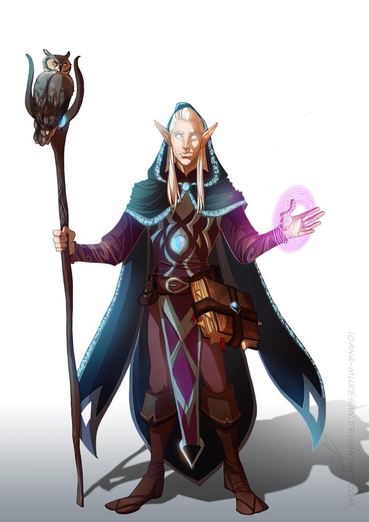 commission, High elf sorcerer by Ioana-Muresan