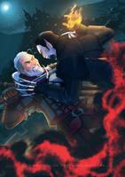 Dettlaff vs Geralt by Ioana-Muresan