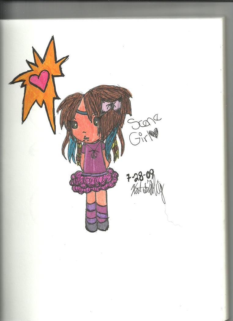 Chibi Scene girl by BadxWolff on DeviantArt