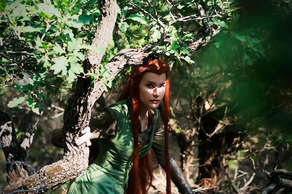 Forest elf by Karenscarlet