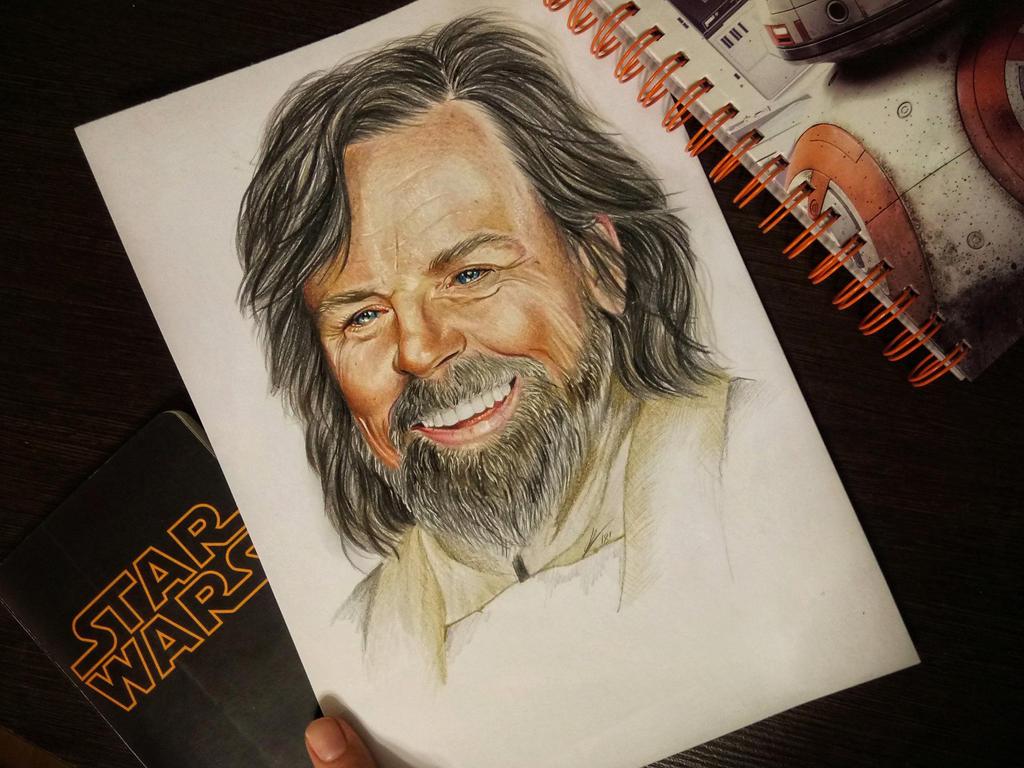 Luke could have smile sometimes by Karenscarlet