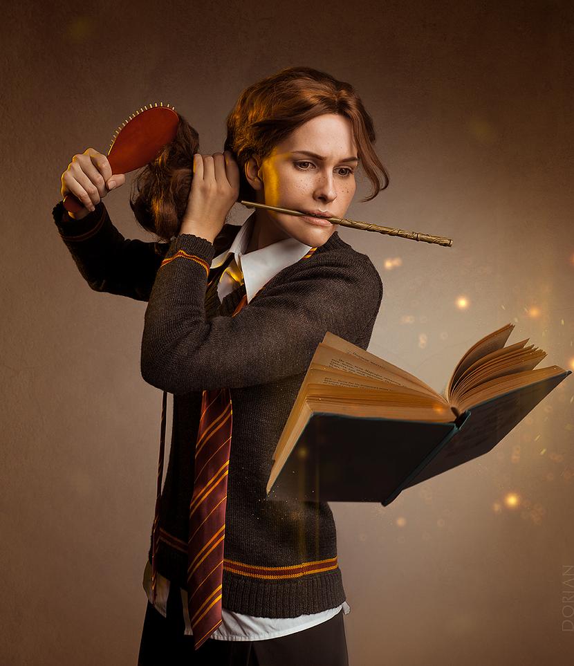 Hermione's routine by Karenscarlet