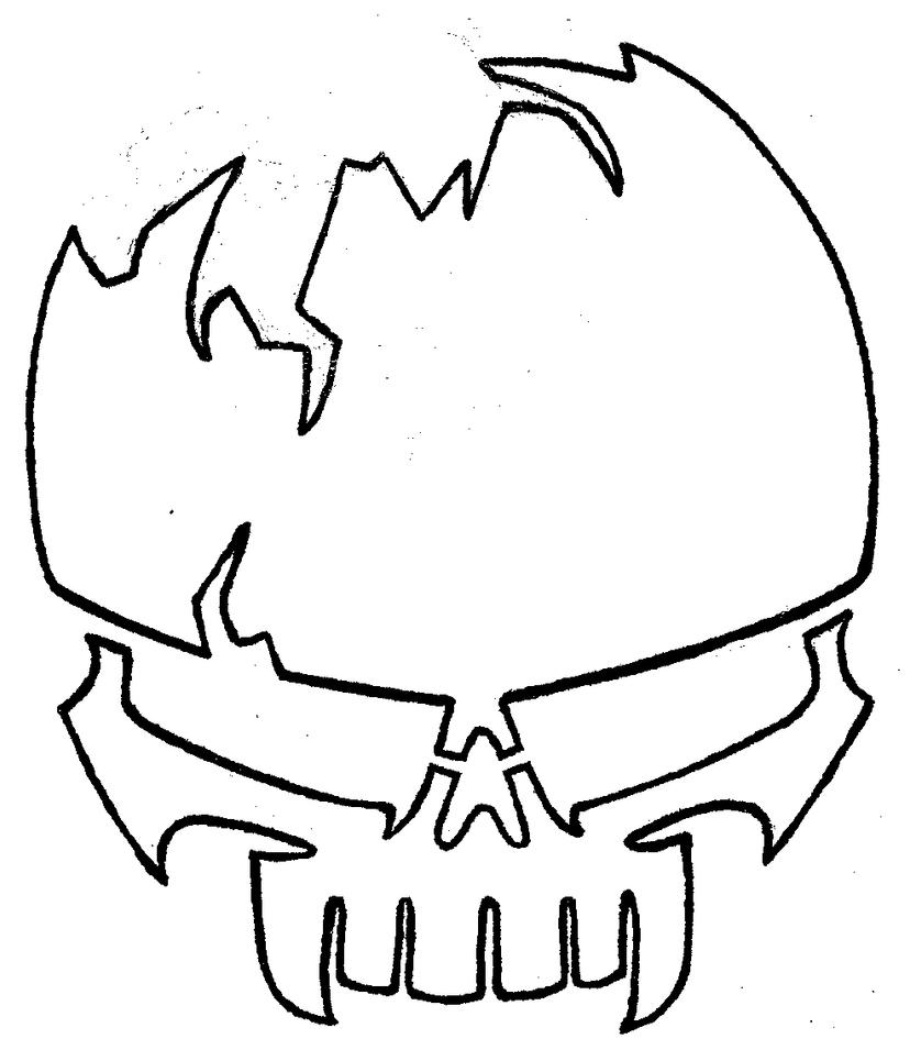 Stencil skull by josh on deviantart