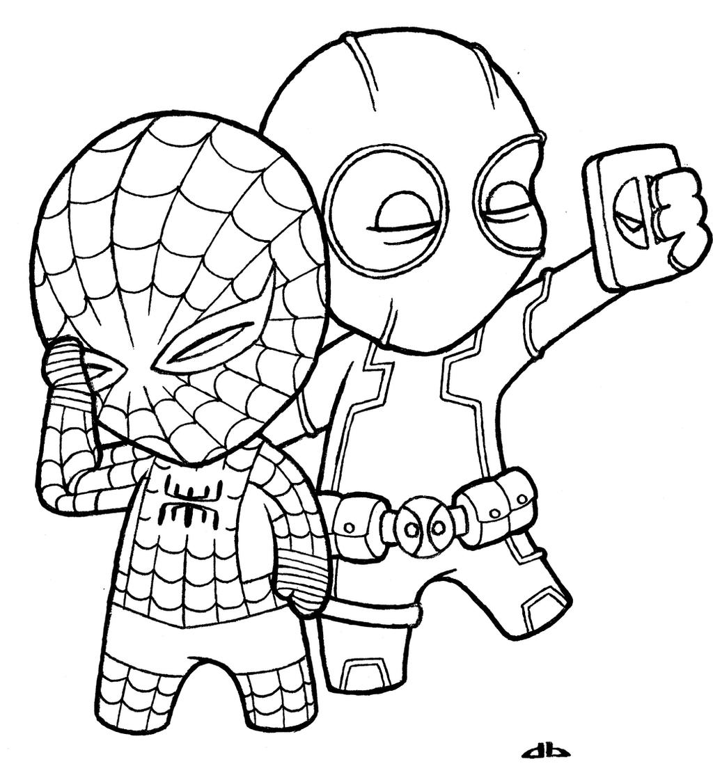 mini coloring pages spiderman - photo#15