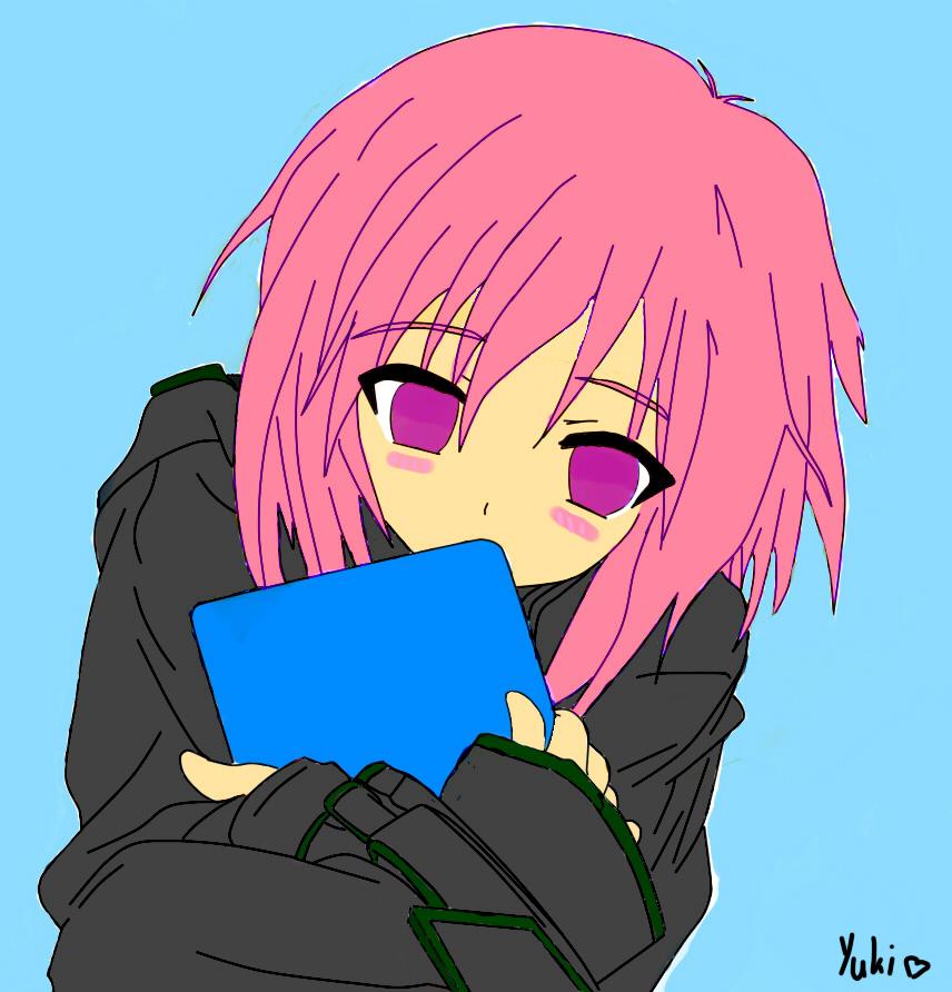 Shy Anime Girl By Yuki2108