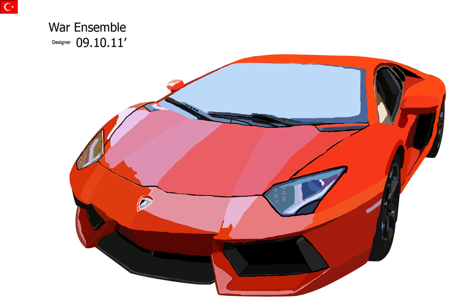 Lamborghini Aventador MS PAINT by apple-yigit-jack