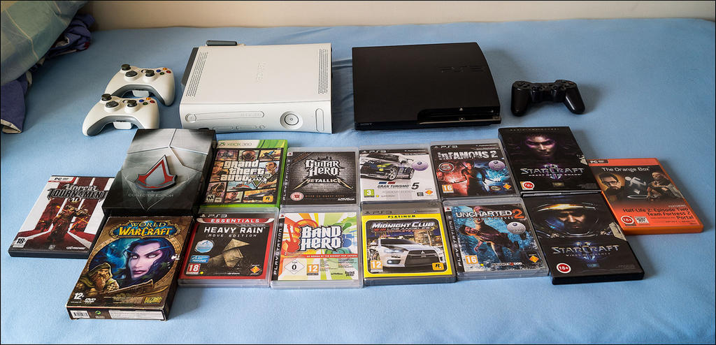 Some of my games and consoles by D3516N3R