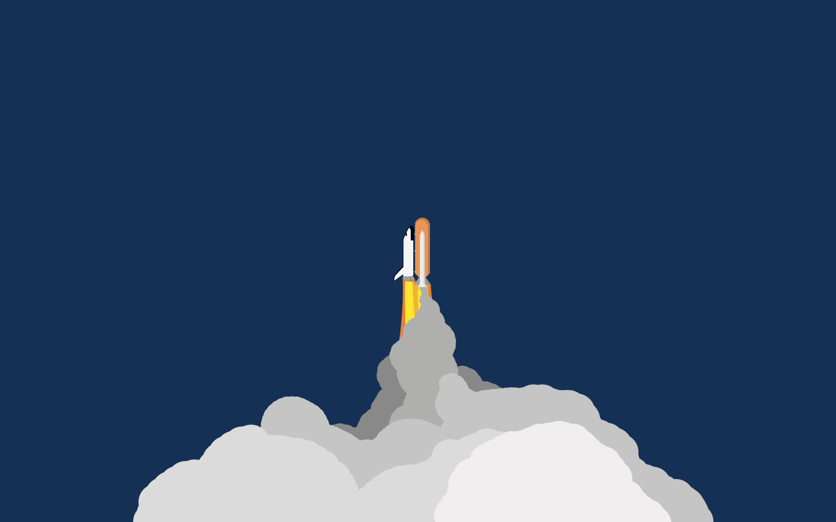 space shuttle minimalistic wallpaper 2880x1800 by apple