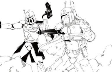 Star Wars Commission Inks by Vegeta1978