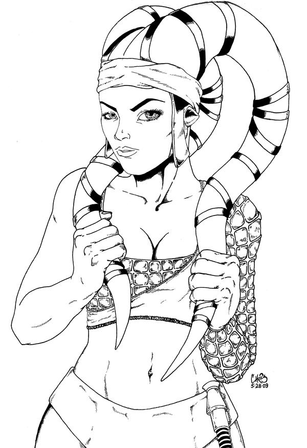 Aayla secura inks by vegeta1978 on deviantart Star Wars Aayla Secura Slave Aayla Secura Art Star Wars Aayla Secura