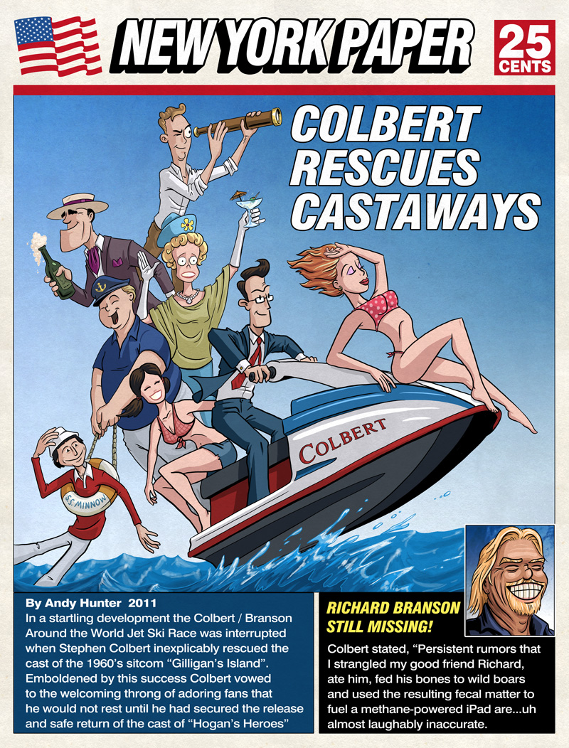 Colbert-Gilligan's Island by andyjhunter