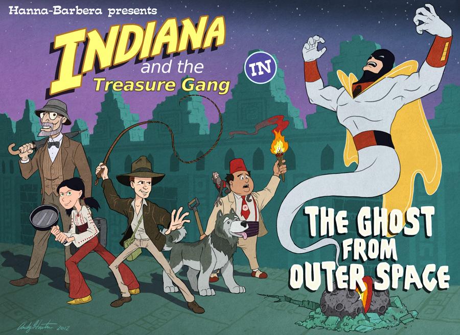 Hanna Barbera Indiana Jones mashup by andyjhunter