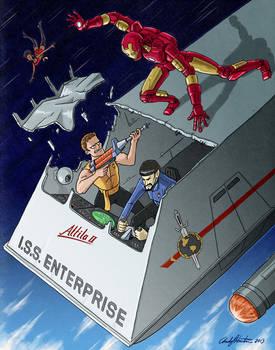 Iron Man vs Evil Kirk and Spock