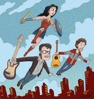 Wonder Woman Flight of the Conchords