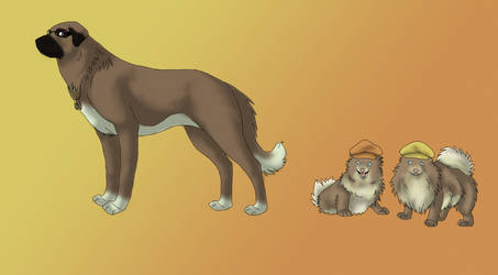 SE Dogs: Kilik, F and T by Demon-Fire-Wolf