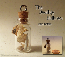 Deathly Hallows inna bottle by Hedgehogscanfly