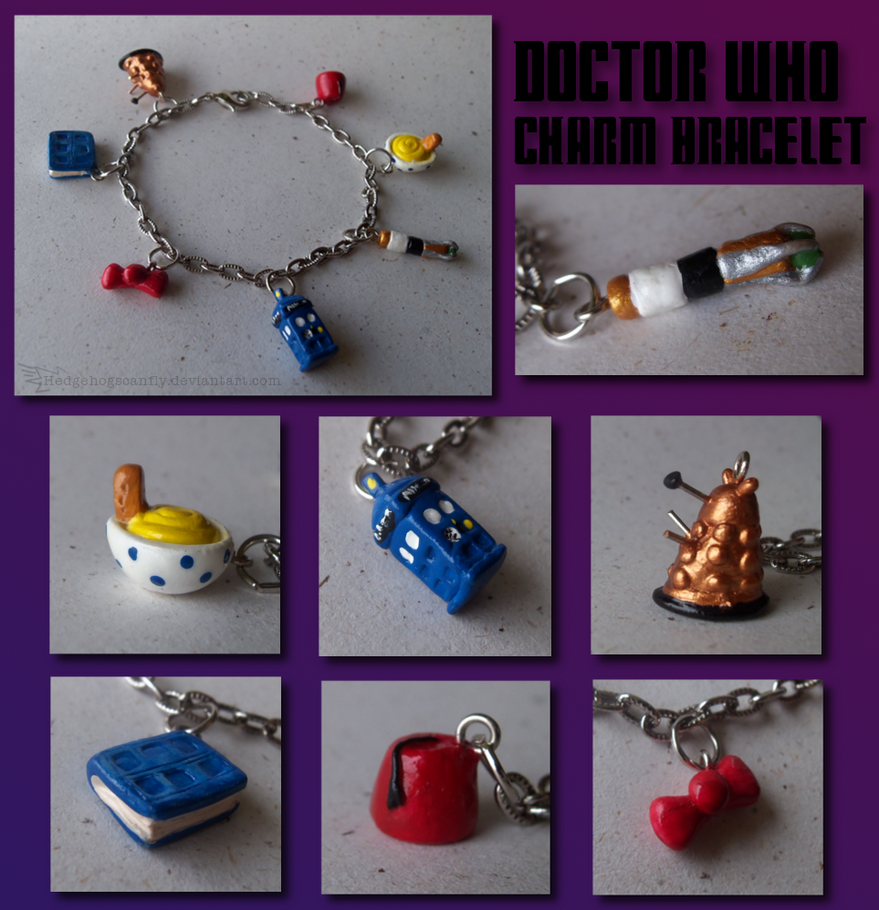 11th Doctor charm bracelet by Hedgehogscanfly