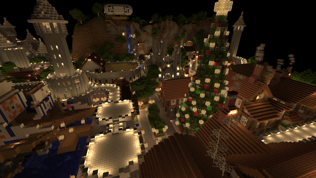 Minecraft Render: Christmas Village by dak47922 on DeviantArt