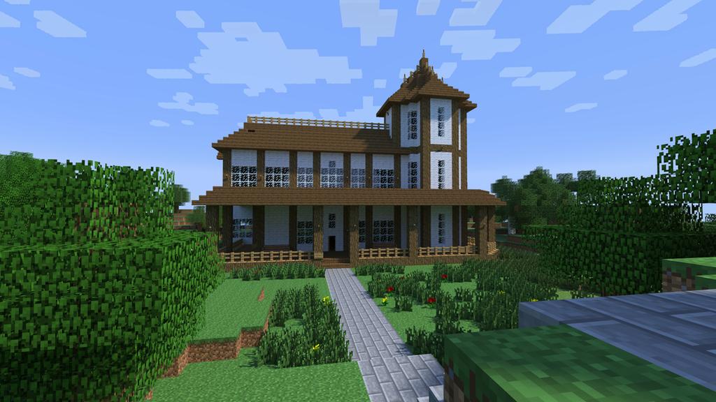 Minecraft Render Forest House By Dak47922 On Deviantart
