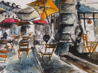 Urban sketching by Liloux-illustration