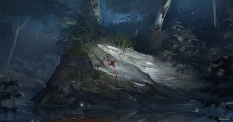Blod pa stein