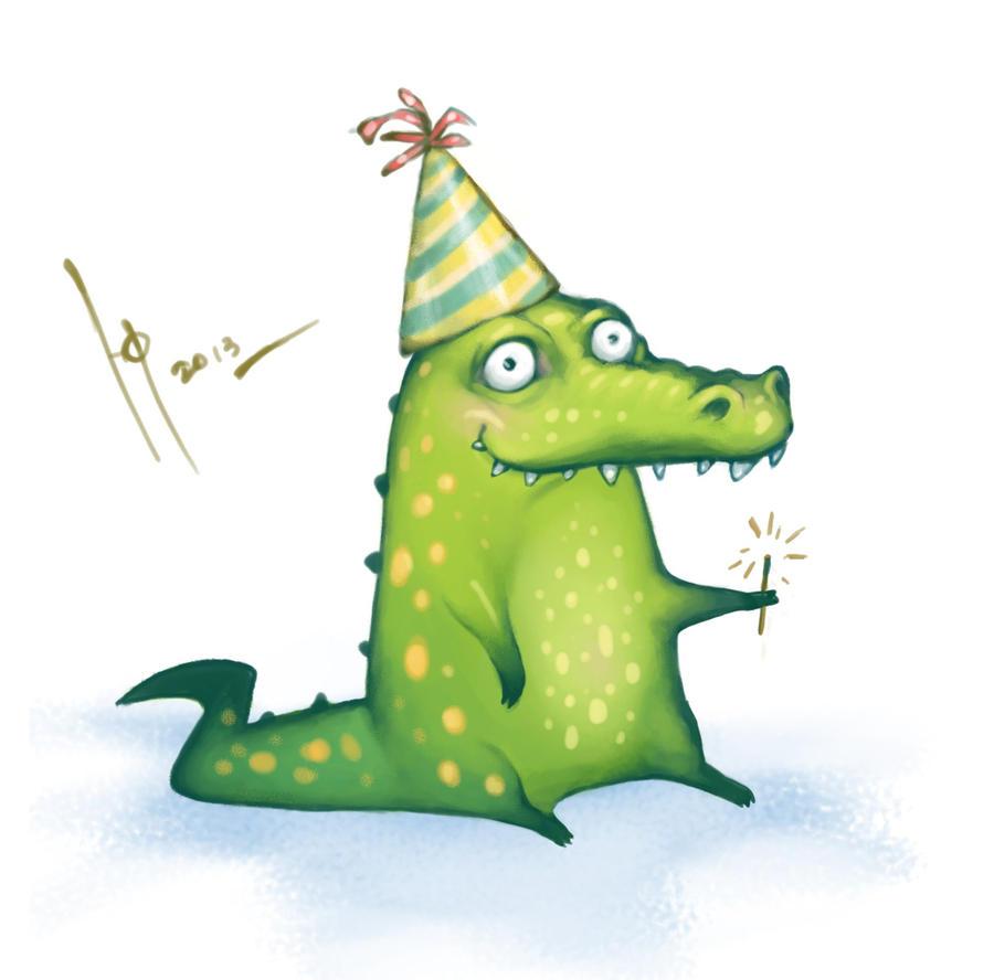 Крокодил смешной рисунок