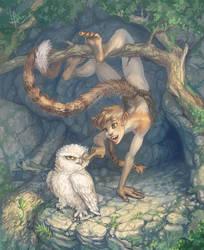 Shaisu and Owl - random plot by Ptich-ya
