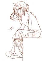 -Ed Elric sketch- FMA by Kiki02