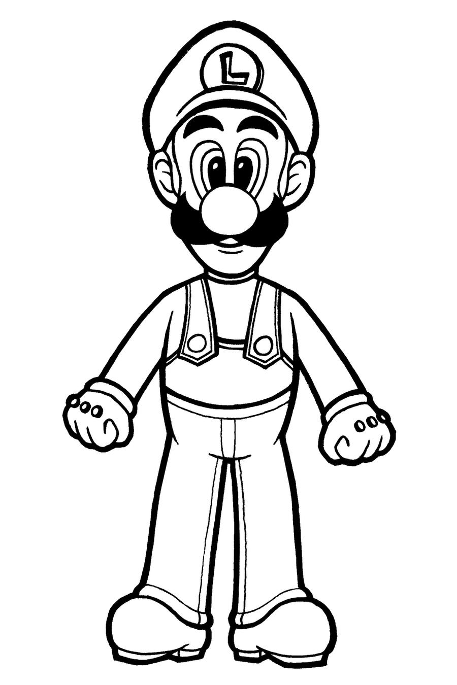 Luigi Coloring Page By Spiritvii On Deviantart Coloring Pages Of Mario And Luigi